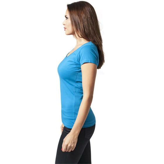 Urban Classics Ladies Basic Tee, turquoise L