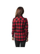 Urban Classics Ladies Checked Flanell Shirt, blk/red S