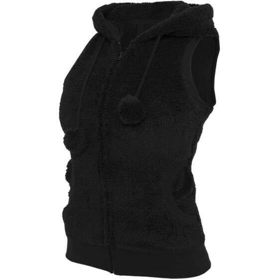 Urban Classics Ladies Teddy Vest, black XS