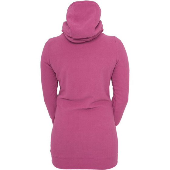 Urban Classics Ladies Long Polar Hoody, fuchsia XS