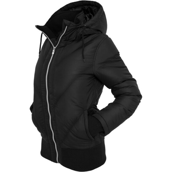 Urban Classics Ladies Arrow Winter Jacket, black XS