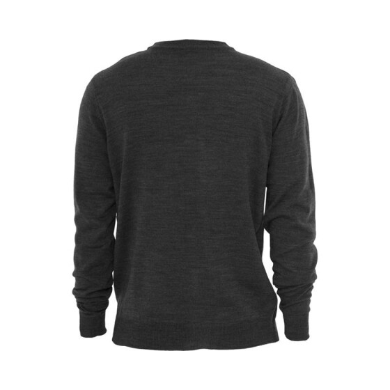 Urban Classics Knitted V-Neck, charcoal L