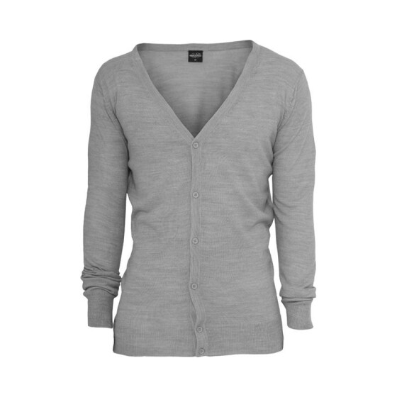 Urban Classics Knitted Cardigan, grey XL