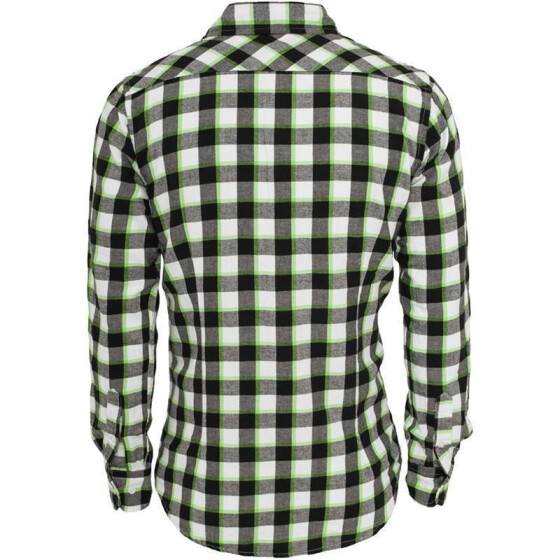 Urban Classics Tricolor Checked Light Flanell Shirt, blkwhtlgr XL