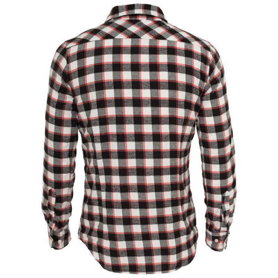 Urban Classics Tricolor Checked Light Flanell Shirt, blkwhtred M