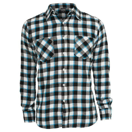 Urban Classics Tricolor Checked Light Flanell Shirt, blkwhttur XL