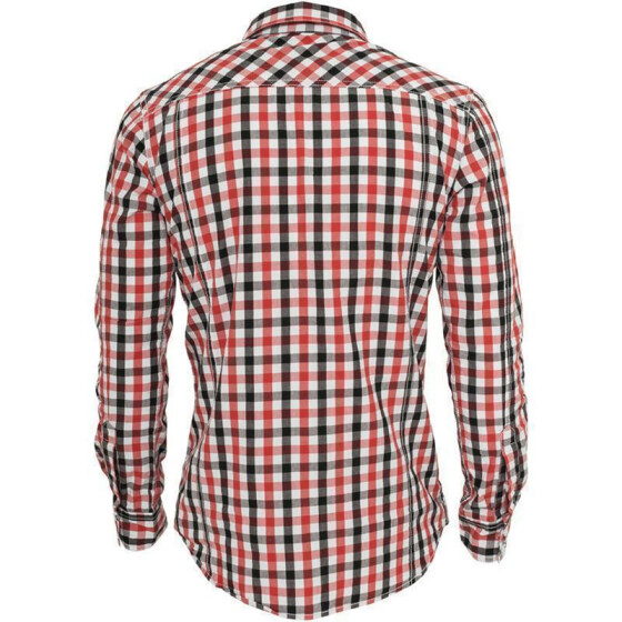 Urban Classics Tricolor Big Checked Shirt, blkwhtred 3XL