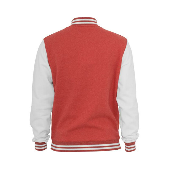 Urban Classics Melange College Sweatjacket, red/wht S