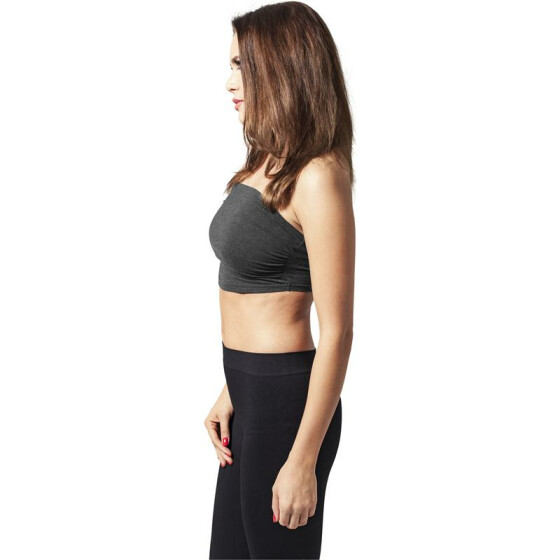 Urban Classics Ladies Bandeau Top, charcoal XS