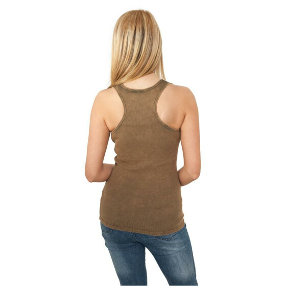 Urban Classics Ladies Faded Tanktop, olive S