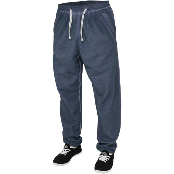 Urban Classics Ladies Spray Dye Sweatpant, denimblue XS