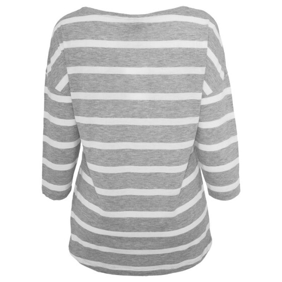 Urban Classics Ladies Loose Striped Tee, gry/wht S