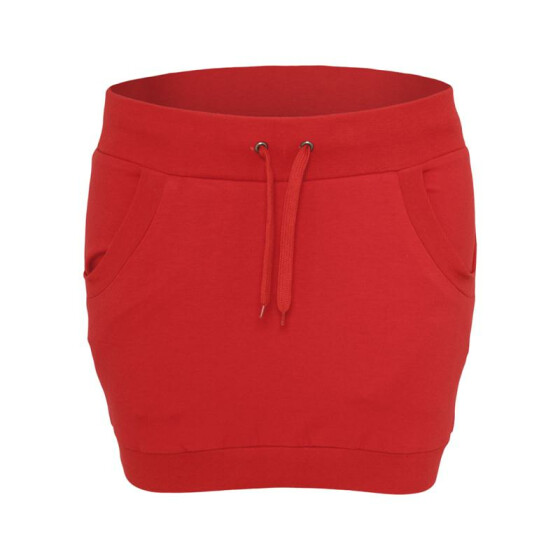 Urban Classics Ladies French Terry Skirt, red XS
