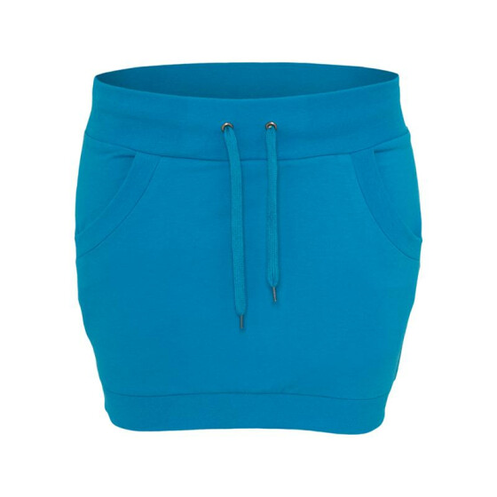 Urban Classics Ladies French Terry Skirt, turquoise XL