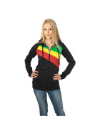 Urban Classics Ladies 3 Color Jersey Ziphoody, blk/rasta XL
