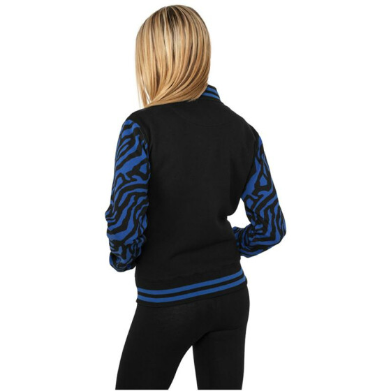 Urban Classics Ladies Zebra 2-tone College Sweatjacket, roy/blk S