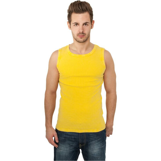 Urban Classics Faded Tanktop, yellow XL