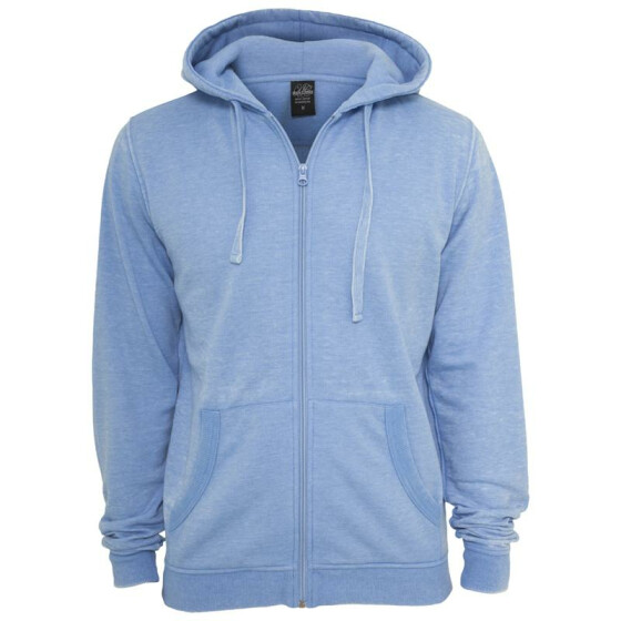Urban Classics Burnout Zip Hoody, skyblue XL