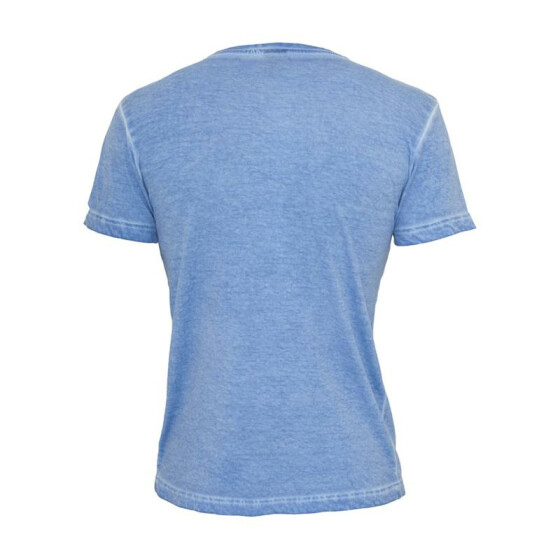 Urban Classics Spray Dye V-Neck Tee, skyblue L