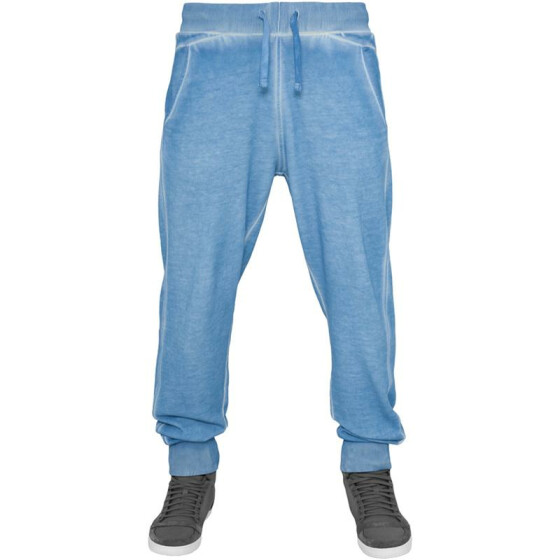 Urban Classics Spray Dye Sweatpants, skyblue XXL
