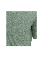 Urban Classics Melange V-Neck Pocket Tee, green XL