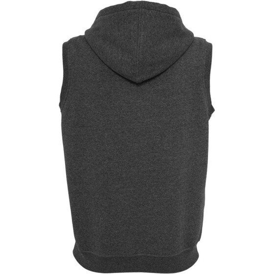 Urban Classics Melange Sleeveless Ziphoody, black XL