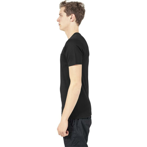 Urban Classics V-Neck Pocket Tee, black XS