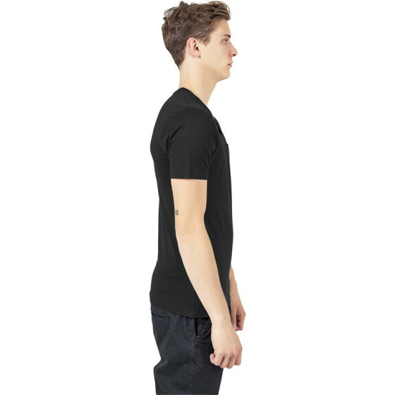 Urban Classics V-Neck Pocket Tee, black XXL