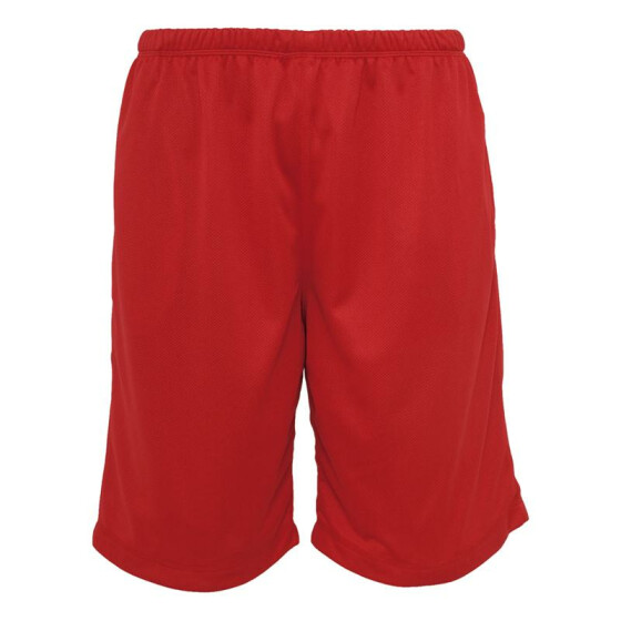 Urban Classics BBall Mesh Shorts with Pockets, red S