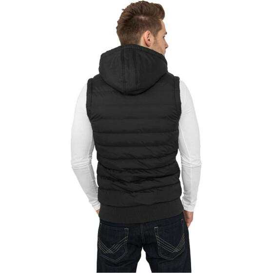 Urban Classics Small Bubble Hooded Vest, blk/blk S