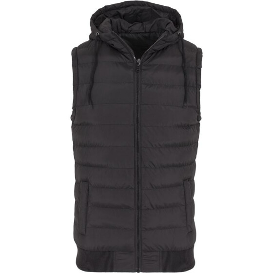 Urban Classics Small Bubble Hooded Vest, blk/blk XL