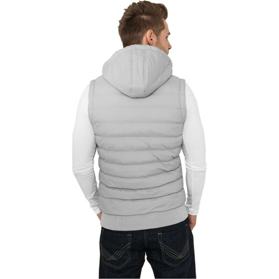 Urban Classics Small Bubble Hooded Vest, gry/wht M
