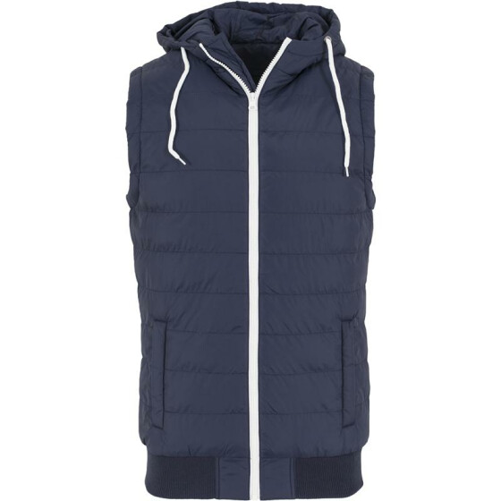 Urban Classics Small Bubble Hooded Vest, nvy/wht S