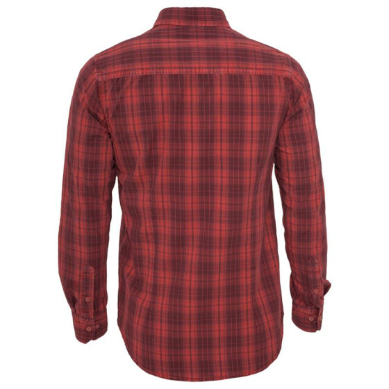 Urban Classics Checked Garment Dye Shirt, blk/red XXL