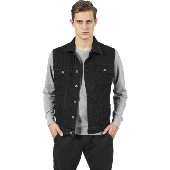 Urban Classics Denim Vest, blackraw S