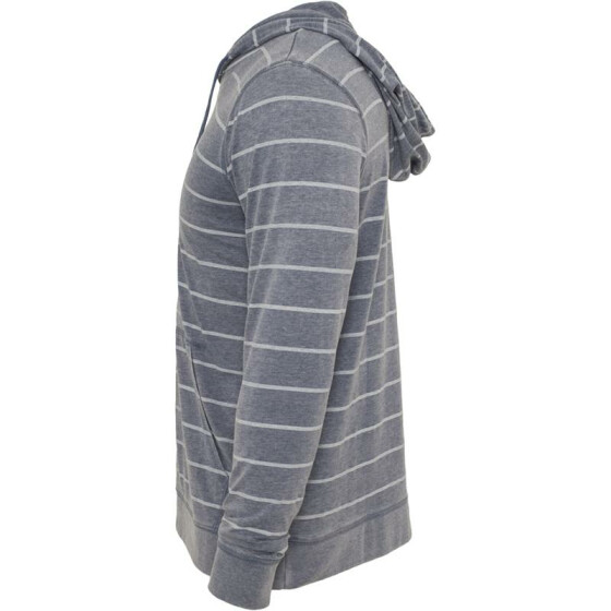 Urban Classics Striped Burnout Hoody, denimblue/wht L