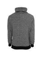 Urban Classics Melange High Neck Knitted Crew, gry/blk L