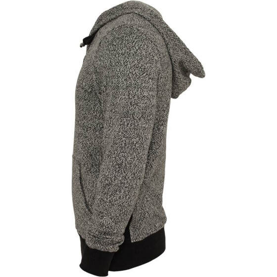Urban Classics Melange Knitted Hoody, blk/gry XL