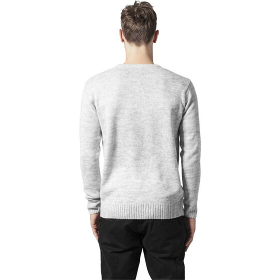 Urban Classics Melange Knitted Crew, gry/wht L