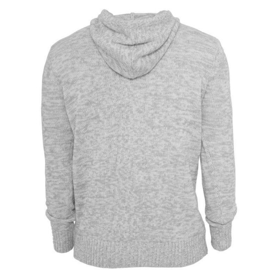 Urban Classics Melange Knitted Hoody, gry/wht M