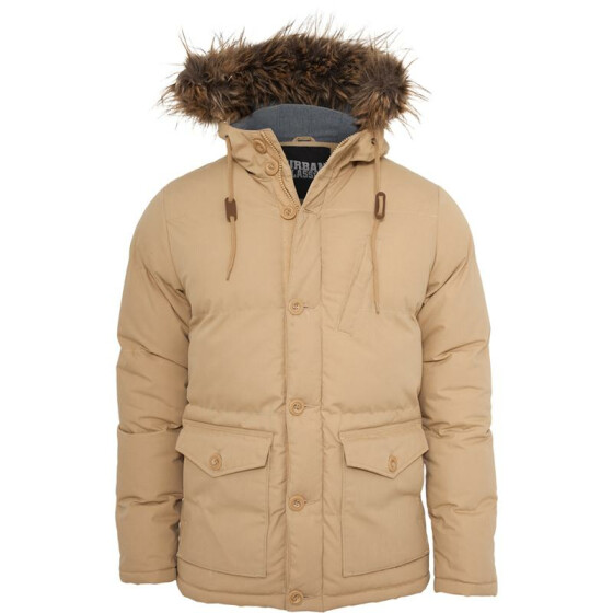 Urban Classics Chambray Lined Parka, beige XL