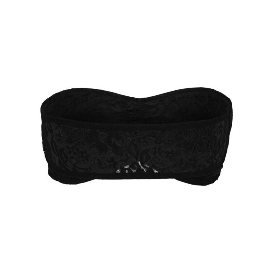 Urban Classics Ladies Laces Bandeau, black XS