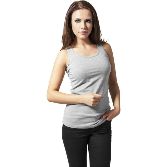 Urban Classics Ladies Cutted Back Tanktop, grey S