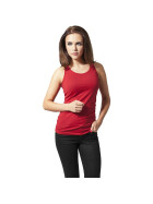 Urban Classics Ladies Cutted Back Tanktop, red L