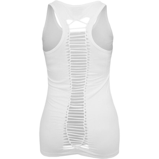 Urban Classics Ladies Cutted Back Tanktop, white S