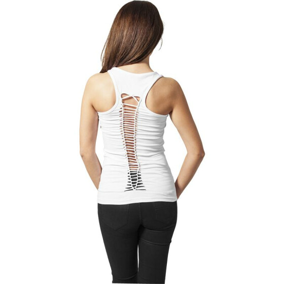 Urban Classics Ladies Cutted Back Tanktop, white M