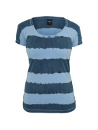 Urban Classics Ladies Dip Dye Stripe Tee, denimblue/skyblue XL