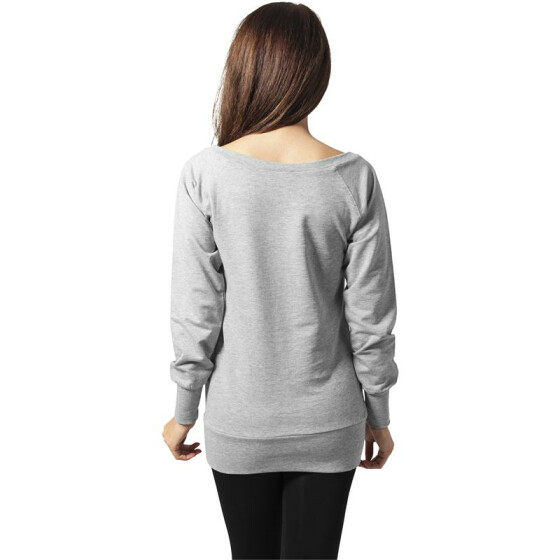 Urban Classics Ladies Wideneck Crewneck, grey XL
