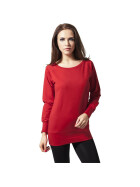 Urban Classics Ladies Wideneck Crewneck, red XS