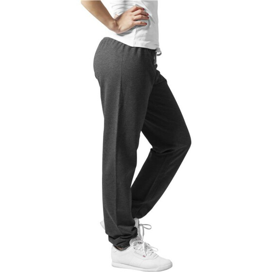 Urban Classics Ladies Fitted Sweatpant, charcoal XL